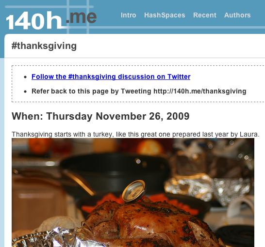 #thanksgiving collaboration screenshot